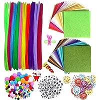 DOITEM 560pcs Fil Chenille Pompon Kit - Art de Loisirs Créatifs pour Les Enfant DIY Jouets éducatifs [100 Cure Pipes…