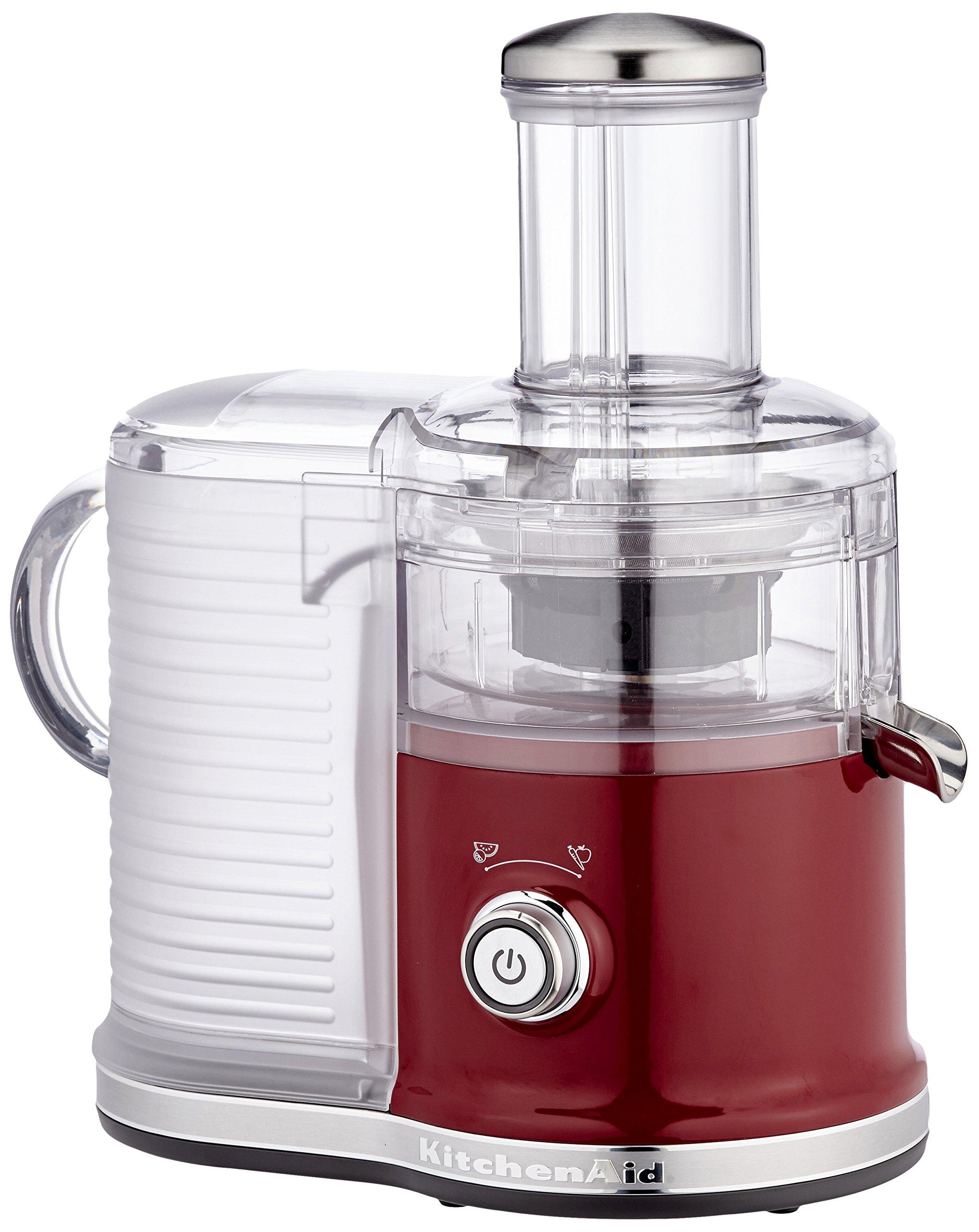 KitchenAid 5KVJ0333ECA Estrattore di succo 500W Rosso, Trasparente spremiagrumi