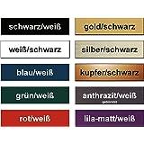 Edelstahl//blau LAVICO|M Schild Klingelschild Briefkastenschild T/ürschild Haust/ürschild Pokalschild Modell 01