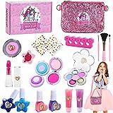 Jojoin 20 Pcs Maquillaje Niñas, Maquillaje Infantil, Maquillaje para Niñas, Juguete de Maquillaje con Bolsa para Decoración y