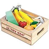 Le Toy Van - Honungsbi av trä marknaden frukt '5 a day' låda | stormarknad låtsas leka shop mat, TV183