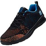 Zapatos de Seguridad Hombre Mujer, Punta de Acero Zapatos Ligero Zapatos de Trabajo Respirable Construcción Zapatos Reflexivo