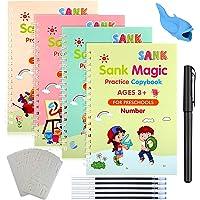 Quaderno Per Calligrafia Riutilizzabile, 4 Pezzi Quaderno Per calligrafia Per Bambin Calligrafia magica libro per…
