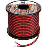 18awg 0.8mm² Silicone Elektrische Draad 2 Core Kabel 60m [Zwart 30m Rood 30m] Zuurstof Gratis Gestrande Vertinde Koperdraad H