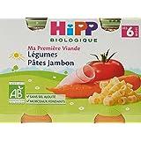 HiPP Biolologique Ma Première Viande Légumes Pâtes Jambon / Carottes Pommes de terre Bœuf / Haricots verts Pommes de terre Po