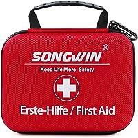 Songwin Erste Hilfe Set, Wasserdicht Verbandskasten Mini Erste Hilfe Tasche für Wandern, Outdoor, Fahrrad & Reise…
