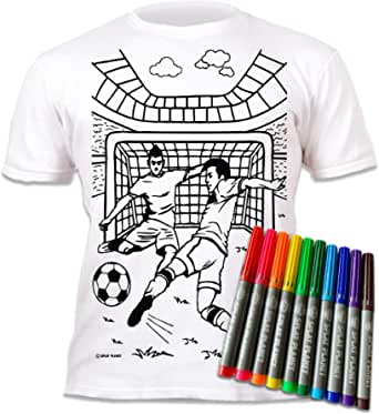 Kids Activity Hero Home holiday Children/'s T-Shirt Pens Included Age 9-11 XL