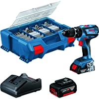 Bosch Professional Sistema 18V Trapano-Avvitatore a Perc a Batt GSB 18V-28, Inclusa 1 Batt. 2.0 Ah, 1 Batt 4.0 Ah…