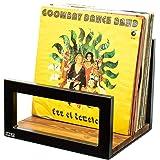 NNLT Estante de Discos de Vinilo Almacenamiento de Discos de Vinilo hasta 60 álbumes Gramófono Placa giratoria Diseño Premium