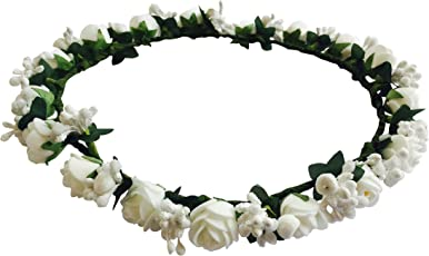 Loops n Knots Princess Flora Collection White Tiara/Crown/Headband for Girls & Women Hair Accessories for Birthday Party & Wedding-Gift for Girls