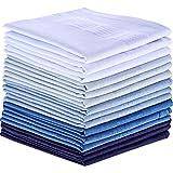 15 Pack Cotton Handkerchiefs Large Pocket Squares Hankies for men (Multicolor-1)