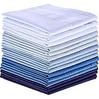 15 Pezzi Fazzoletti di Cotone Grande Tasca Piazze Fazzoletti per gli Uomini (Multicolore-1)