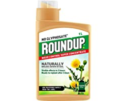 Roundup Naturals Weed Killer - CONCENTRATE (Glyphosate-Free) - 1 Litre