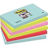 Post-it Super Sticky Notes Miami Collection 655-6SS-MIA – självhäftande klisterlappar i 76 x 127 mm – 6 anteckningsblock rekt