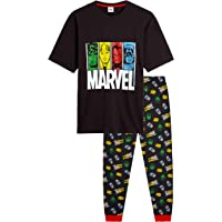 MARVEL Pyjamas for Men, 100% Cotton Lounge Wear, Official Merchandise, Novelty Loungewear Set with T Shirt Featuring…
