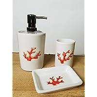 Set ceramiche bagno Corallo Rosso