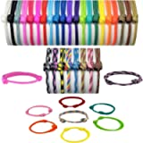 Handmade Paracord Puppy ID Collar Whelping Bands Adjustable Soft Paracord in 4 Sizes (Packs of 2 to 15)
