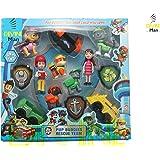 divine man Toys Action Figure Pup & Badge, Ryder, Tracker, Robot Dog, Everest, Team Mission Toy Pretend Play Set for Kids.