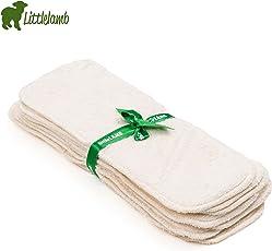 Little Lamb Booster Bamboo Windeleinlagen (5 Stück) - Größe 2 - 35x12,5 cm - 2-lagige Saugeinlagen, Bambus Einlage, Stoffwindel Einlage, Littlelamb Bambus-Saugeinlage, 5er-Set