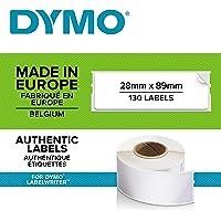 Dymo 10205 Rouleau d'Etiquette, 28 m x 89 mm Couleurs Assorties, 1 Rouleau de 130