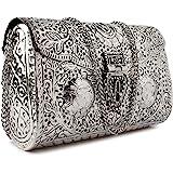 Trend Overseas Bridal Women's Antique Brass Purse Ethnic Handmade Metal Clutch Bag