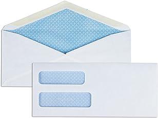 Business Source No. 10Double Window Invoice Envelopes (36694)