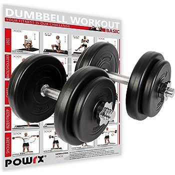 POWRX Mancuernas 20 kg set (2 x 10 kg)