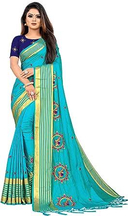 kfgroup Robe de mariage indienne en soie brod/ée Sari avec chemisier