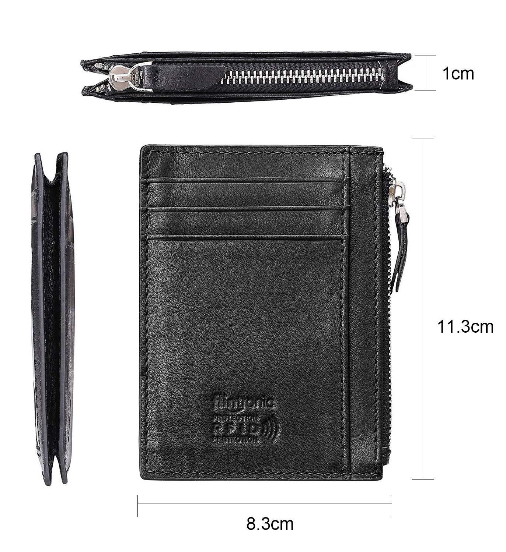 flintronic Portia Carte di Credito e Tasche Pelle, RFID/NFC Blocco Portafoglo, (1 Scomparto Con Cerniera, 6 Slot Per… 12 spesavip