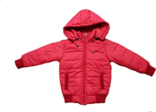 Derbenny Red Nylon Full Sleeve Solid Boy's & Girl's Jacket