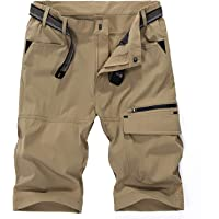 LHHMZ Men's Outdoor Breathable Hiking Shorts Quick Dry Lightweight Sports Casual Cargo Shorts Walking Trousers with…