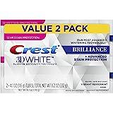 Crest Fluoruro dientes anticavidad blanqueamiento dentífrico - menta vibrante 4.1 Onzas paquete doble