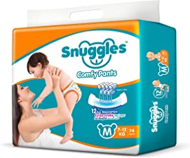 Snuggles Standard Pants Medium Size Diapers - 74 Count