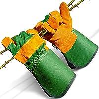 DIY Doctor Unisex Leather Gardening Gloves for Men or Garden Gloves for Women - Leather Work Gloves - Thick Gardening…