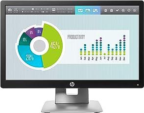 HP EliteDisplay E202 50,8 cm (20 Zoll) Monitor (VGA, HDMI, Displayport, 7ms Reaktionszeit) schwarz/silber