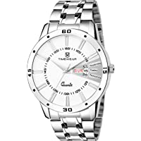 TIMEWEAR Analog Day Date Functioning Stainless Steel Chain Watch for Men