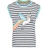 Mountain Warehouse Camiseta a Rayas y Unicornio Brillante Infantil - Camiseta 100% algodón para niños, Ligera, Transpirable,