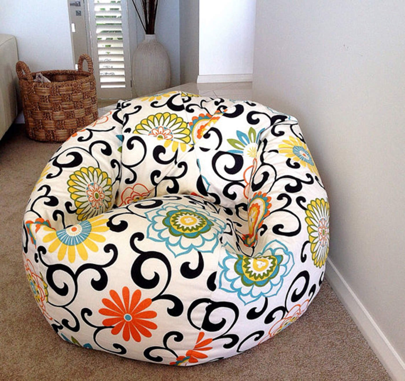 Fine Aart Store Mosaic Xxxl Bean Bag With Beans Filled Blue Color Bralicious Painted Fabric Chair Ideas Braliciousco