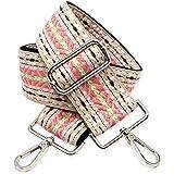 BENAVA Taschengurt Rosa Beige Schulterriemen für Taschen 75-135cm mit Karabiner in Farbe Silber | Schultergurt für Taschen mi