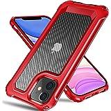 Tuerdan Coque pour iPhone 11, résistant aux chocs de qualité militaire, Cadre en TPU souple anti-chocs, Anti-rayures, résista