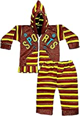 Light Gear Unisex Baby Hooded Sweatshirt with Bottom Set