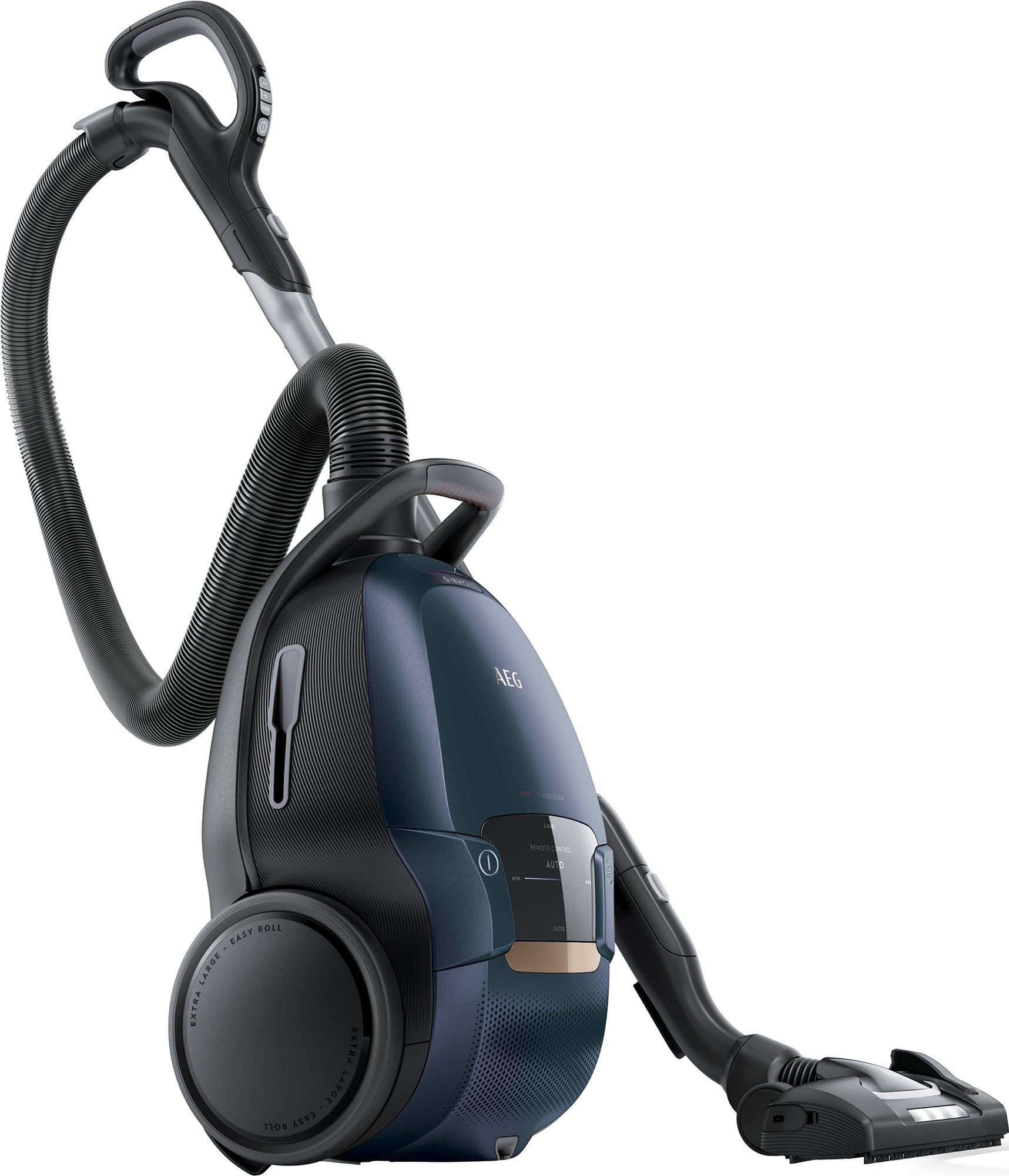 AEG VX9-4-8IBX Staubsauger mit Beutel / XL-Softräder / Frontlichter / Ergo-Handgriff mit Fernbedienung / Zusatzdüsen / 4…