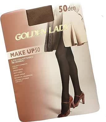 GOLDEN LADY COLLANT DONNA MAKE UP 50 DEN - CONFEZIONE DA 3 PAIA - BASICO, OPACO, COPRENTE CON CUCITURE COMFORT
