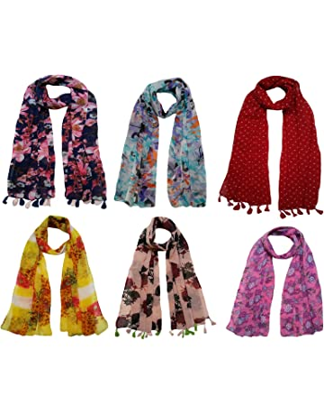 2a34414d639cb FusFus Women's Printed Trendy Stoles, Free Size(Multicolour, F092) - Pack of