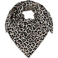 Zwillingsherz Dreieckstuch aus Baumwolle - Hochwertiger Schal mit Leo Design für Damen Jungen Mädchen - Uni - XXL Hals…