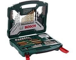 Bosch Set da 70 Pezzi di punte e bit avvitamento in titanio X-Line, legno, pietra e metallo, accessori per trapano