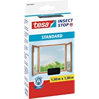 tesa Insect Stop STANDARD Fliegengitter für Fenster - Insektenschutz zuschneidbar - Mückenschutz ohne Bohren - 1 x…