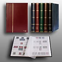 Prophila Lighthouse Stockbook stamp album (new) 60 white pages, red cover