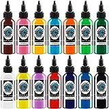 Tattoo Inkt Set 14 Complete Kleuren Pigment Kit 1oz (30ml) Tattoo Supply 14 Primaire Kleur Microblading Pigment Set