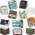 WILLBOND 12 Piezas Broches de Letras de Esmalte Adorables Juego de Alfileres de Dibujos Animados Broches de Esmalte de Dicho